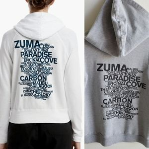 James Perse Malibu Graphic Hoodie in Light Gray